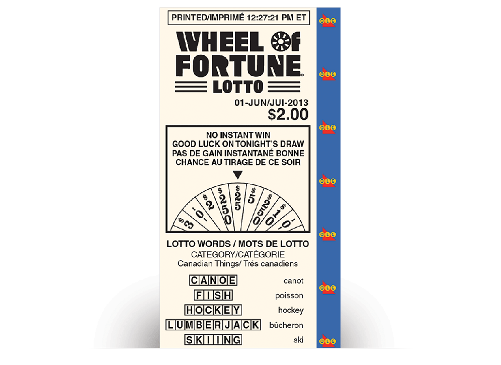 Billet de WHEEL OF FORTUNE® LOTTO